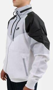 Nike Sportswear Windrunner Hooded Jacket Mens Size Large White Black CN8770-100