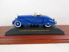 IXO. Packard V12 Le Barron Speedster. Blue. 1934.1:43. MUS034