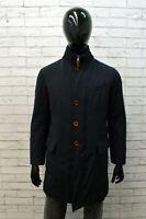 Cappotto Uomo Henry Cotton's Taglia 48 Giubbotto Blu Giacca Lunga Parka Jacket