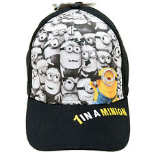 Despicable Me Minion Hat Adjustable Snap Back Kids Baseball Cap Minions Face