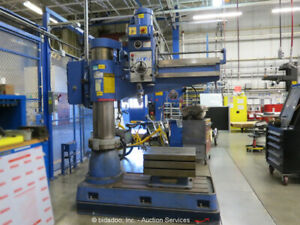"Wilton 4' x 11"" Radial Arm Drill Press Tapping Machine Box Table 5HP bidadoo"
