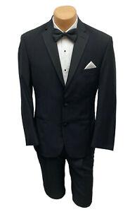 Men's Black Ralph Lauren Tuxedo with Pants Wedding Prom Groom Mason 42R 35W
