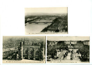 CPA 69 Rhône Lyon lot de 3 Cpa