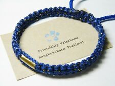 Authentic Thai Blessed Buddhist Wristband Fair Trade Wristwear Blue Takrut