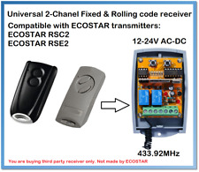 ECOSTAR Compatible Universal 2-Channel receiver 12-24V AC/DC 433.92MHz.