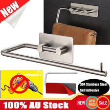 304 Stainless Steel Tissue Holder Kitchen Paper Roll Rack Adhesive Towel Rack AU