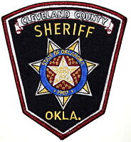 CLEVELAND COUNTY OKLAHOMA OK Sheriff Police Patch STATE SEAL LARGE ~