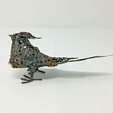 Rustic Rusted Metal Tin Bird Figurine Yard Garden Art French Country Farmhouse
