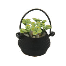 Dollhouse Miniature Home Decoration Hanging Plant with Pot Garden Accessory