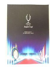 PROGRAMMA UFFICIALE FINALE SUPERCOPPA EUROPEA CALCIO INTER- ATLETICO MADRID 2010