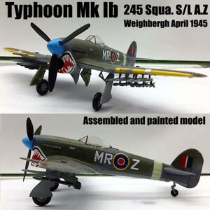 WWII Hawker Typhoon MK 1B 245 Squadron weighbergh 1/72 finished plane Easy model