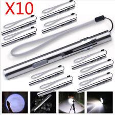 10x 8000lm Pocket Tactical Flashlight Torch LED Pen Xmlt6 USB Rechargeable Light