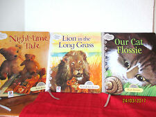 Ruth Brown bulk lot x 3 sc picture books OUR CAT FLOSSIE, LION, NIGHT-TIME TALE