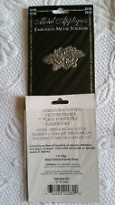 """Metal Appliques Scrapbooking Embellishments Stickers Pewter Roses 2"""" x 1"""""""