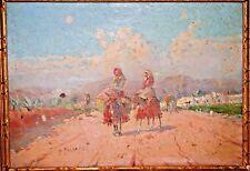 Gustavo Gallardo y Ruiz of Spain Impressionist Oil on Board Signed Oil Painting