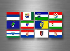 Flag sheet sticker labels country subdivisions states province  bosnia