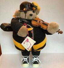 Apple Whimseys Teddy Bear Signed Cindy Teyro Korsakoff Violin Case Black Yellow