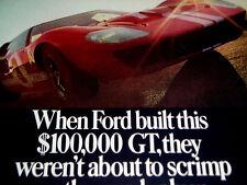 1967 FORD GT-40 ORIGINAL AD *AUTOLITE* 427/289/v8/Mustang/GT40/Cobra/hood/bumper
