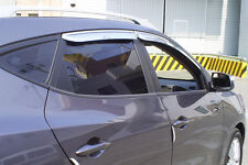 Chrome Window Visors Wind Deflectors 4P for 2010 ~ 2015 Hyundai ix35