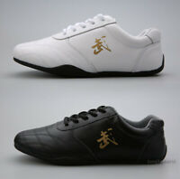 Unisex Soft Cow Leather Kung fu Tai chi Shoes Martial arts Wushu Sports Sneakers