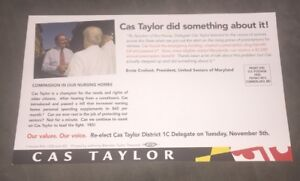 Cas Taylor for Maryland District 1-C Campaign Card