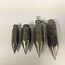 Set of 4 Vintage Steel Plumb Bobs 3oz.- 8 oz.