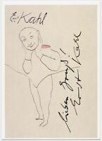 Ernst Kahl - original signiert Autogramm auf Kunstpostkarte - ATTENTION!