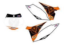 KIT GRAFICHE KTM SX SX F EXC 08 011 TABELLE CROSS O ENDURO PERSONALIZZATE