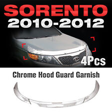 for Kia 2010 2011 2012 Sorento R Chrome Bonnet Hood Guard Garnish Molding B517