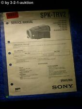 Sony Service Manual SPK TRV2 Sports Pack (#4931)