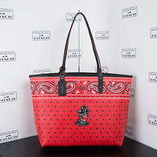 NWT Disney X Coach F59376 Reversible Tote In Prairie Bandana With Mickey $395