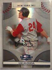 Lucas Duda 2008 Donruss Threads Auto RC #7/25 SSP RARE Mets slugger rookie card!