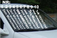 1x Autoaufkleber Frontscheibe Wunschtext Sticker Schriftzug Tuning Shocker JDM