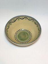 Isle of Wight Pottery  Geometric studio pottery bowl Signed Samuel Sanders