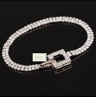 Swarovski Genuine Crystal 18K Gold plated Pave Link Bracelet & Gift box