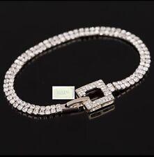 Swarovski Genuine Crystal 18K Gold plated Pave Link Bracelet & Gift box