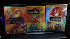 Lion King Trilogy DVD Box Set Lion king 1 Platinum Lion King 2 Lion King 1/2 1.2