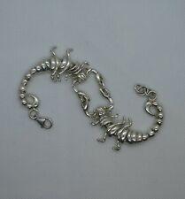 "925 Silver articulated Scorpion bracelet    7 3/4-8 1/4""   19.5-21cm    35gms"