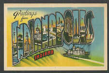 PPC #G221* GOOD POSTCARD GREETINGS FROM INDIANAPOLIS MINT