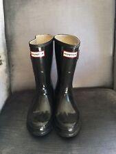 Hunter Women's Original Short Rain Boot- Gloss Black SIZE 6
