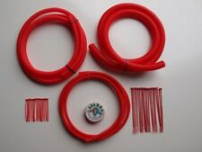Ford- Red Split conduit Engine/Wiring Dress Up Kit - Universal Fitment