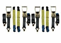"""Recovery Ratchet 4 x 4mtr Black Transporter Strap Standard Handle 18"""" Soft Ring"""