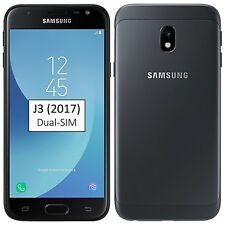 New Samsung Galaxy J3 2017 Dual-SIM 16GB Black SM-J330F/DS Factory Unlocked 4G