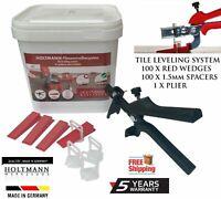 Holtmann Tile Leveling Spacer System Tool & Wedges & Pliers Tiling Kit GERMAN