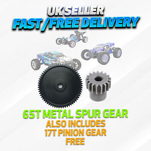 Metal Steel 65T Spur & 17T Pinion Gear FTX Vantage/Carnage/Bugsta, Integy, VRX