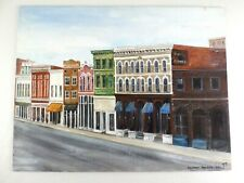 VTG 1981 Painting Larimer Square Downtown Denver Colorado Historic Architecture