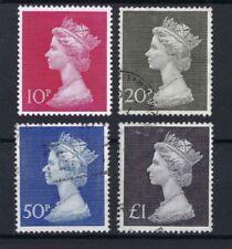 4 Number Used Great Britain Elizabeth II Stamps