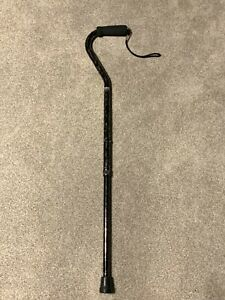 Pre-owned Carex FGA51800 Offset Adjustable Cane Gray Weight Capacity 250 lbs