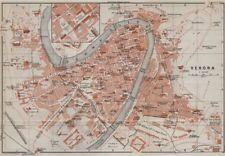 VERONA antica CITTA 'CITY Pianoforte piano urbanistico. ITALIA MUNDI. BAEDEKER 1909