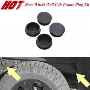 4PCS Rear Wheel Well Cab Frame Plug Kit For 2001-2019 GMC Chevrolet Chevy 2500HD